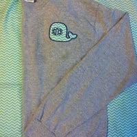 Whale Monogram Long Sleeve Shirt