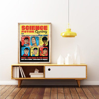 STAR TREK - 1966 TV Show Cast Portrait - Unique Poster. Limited Edition Print