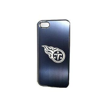 NFL Tennessee Titans Etched Logo iPhone 5 5s Brushed Metal Phone Case