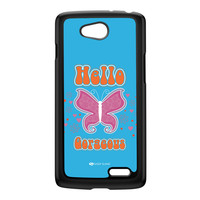 Sassy - Hello Gorgeous 10433 Black Hard Plastic Case for LG L70 by Sassy Slang