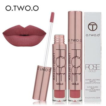 O.TWO.O Super-lasting Matte Liquid Lipstick Lipgloss 12 Colors Waterproof  Lipstick Matte Liquid Makeup Lip Gloss Brand Lips