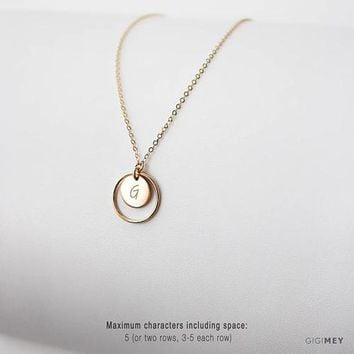 Personalized Disc Necklace • NDV9CI1