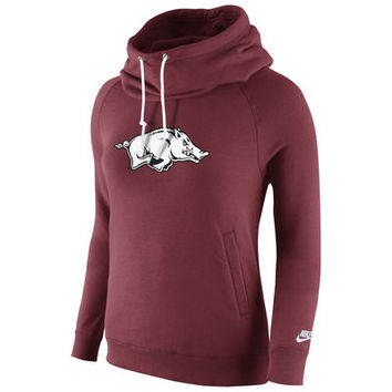 Arkansas Razorbacks Nike Womens Rally Funnel Hood-Rewind Sweatshirt – Cardinal