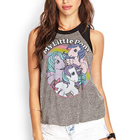 FOREVER 21 My Little Pony Muscle Tee Charcoal/Multi