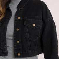 LA Lady Cropped Denim Jacket