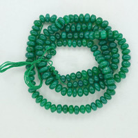 "Green Onyx,Rondelle Beads,Faceted Beads,7mm to12.5MM 18""Inch 1Strand,Green Beads Faceted Green Gemstones,1Strand Natural Gem 330 Carets Gems"