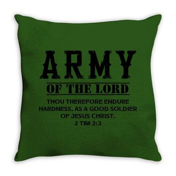 Army Of The Lord Christian T Shirts Bible Verse Throw Pillow