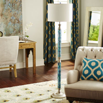 Helena Mosaic Floor Lamp - Blue