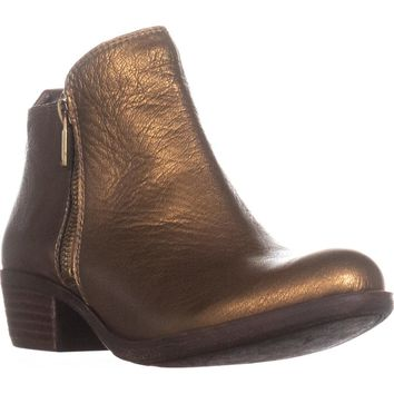 Lucky Brand Basel Side Zip Ankle Boots, Old Bronze, 6.5 US / 36.5 EU
