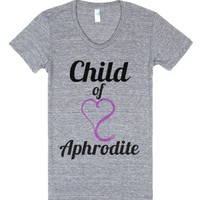 Child of Aphrodite-Female Athletic Grey T-Shirt