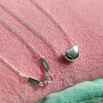 Tiffany fashion trend 925 sterling silver beans pea necklace necklace high quality