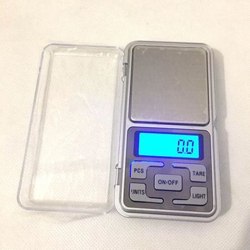 200g/0.01g Pocket Scale 500g/0.1g for Hookah Shisha Chicha Water Pipe Glass Pipe Tobacco Pipe  Herb Weed Grinder