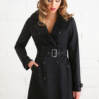 Claire Black Trench Coat