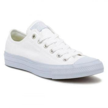 CREYUG7 Converse All Star Chuck Taylor II Womens Ox White/Porpoise Trainers