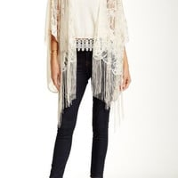 Lace Fringe Bed Jacket