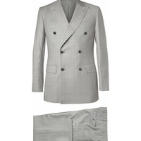 Brioni - Grey Prince of Wales Check Wool Suit | MR PORTER