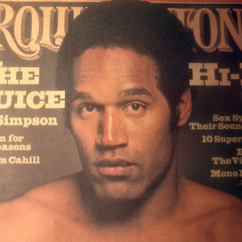 Rare OJ Simpson Rolling Stone Magazine 1977 Pro Football The Juice Macabre