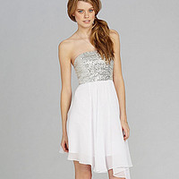 GB Strapless Sequin Dress | Dillards.com