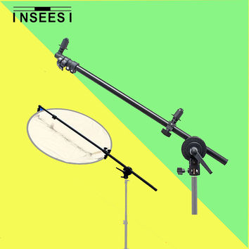 "PRO 26""-69"" Studio Equipment Photography Photo Arm Support Holder Bracket & Swivel Head for Light Reflector Black Balance Disc"