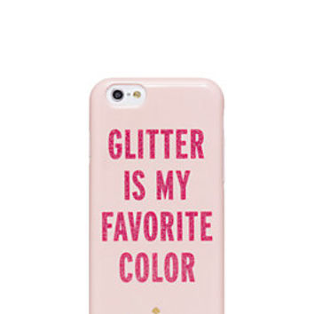 glitter is my favorite color iphone 6 case