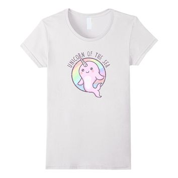 Cute Girls Shirts - Unicorn Of The Sea Narwhal T Shirt