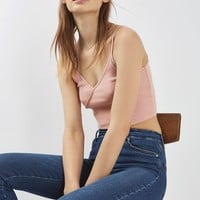 Wrap Front Crop Top - Tops - Clothing