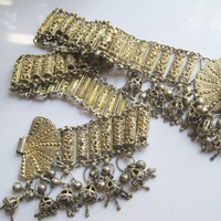 Vintage Silver Yemeni Belt with Gold Gilt
