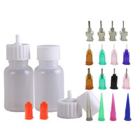 Henna Tattoo Bottle Henna Nozzle Applicator Drawing Labels Bottle With Sealing Cap,Use For Black Henna Tattoo Paste Body Paint