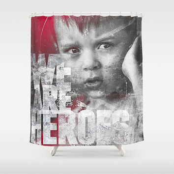Hero Sessions III Shower Curtain by HappyMelvin