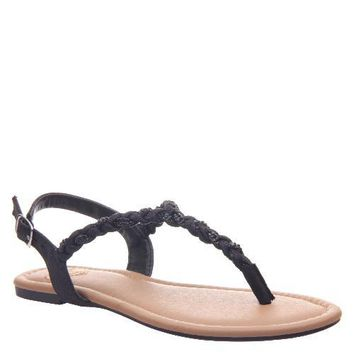 Charge Beaded Sandals : Black