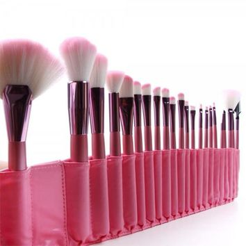 22 pcs Soft Cosmetic Makeup Brush Set Pink