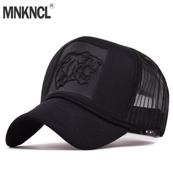 Trendy Winter Jacket MNKNCL 2018 Hip Hop Tiger Print Curved Baseball Caps Summer Mesh Snapback Hats For Women Men casquette Trucker Cap AT_92_12