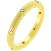 Matte Gold Wedding Band, size : 05
