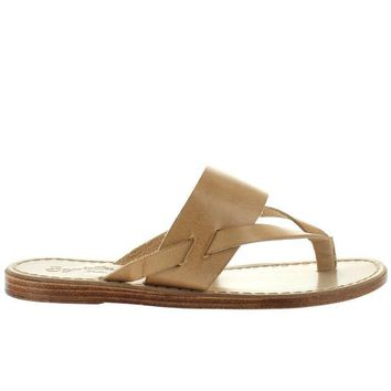 ONETOW Seychelles Mosaic - Natural Leather Thong Sandal