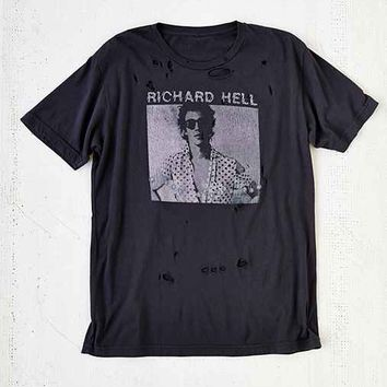 Richard Hell Destroyed Tee - Black