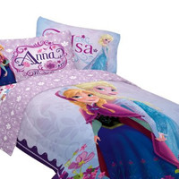 "Disney 64 by 86"" Frozen Celebrate Love Comforter, Twin"