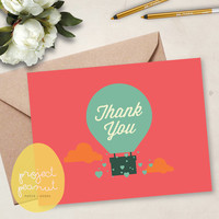 Printable Thank You Card: Hot Air Balloon [Instant Download]