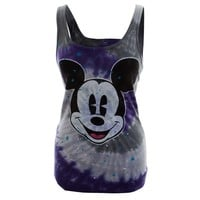 Mickey Mouse - Paint Splatter Face Tie-Dye Juniors Tank Top