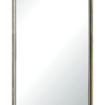 Rectangular Metal Framed Wall Mirror -- 27-1/2-in