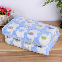Dog Cat  print Soft Cotton Warm Fleece Pet Blanket  90*115cm 3 color