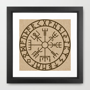 Old Norse Viking symbols of protection by healinglove Framed Art Print by Healinglove Art Products