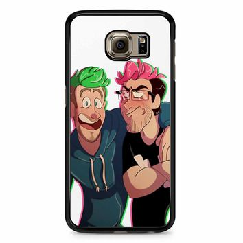 Flamingo Parrot Markiplier Jacksepticeye Samsung Galaxy S6 Edge Plus Case