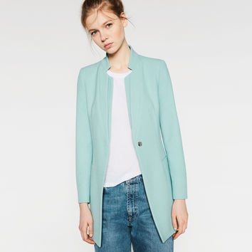 DOUBLE LAPEL BLAZER - BLAZERS-WOMAN | ZARA United Kingdom