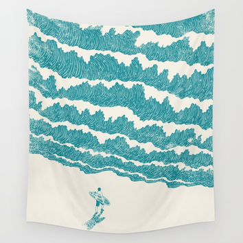 To the sea Wall Tapestry by I Love Doodle