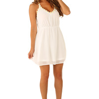Sweet As Sugar Dress: White