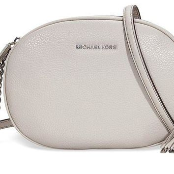 DCCKUG3 MICHAEL Michael Kors Ginny Medium Messenger Bag, Cement