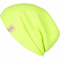 Yellow fluro knitted beanie hat - hats - accessories - men