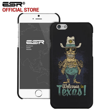 ESR Cute Cartoon Hard Back Case Anti-Scratch illustration Cover Case for iPhone 6 Plus/6s Plus