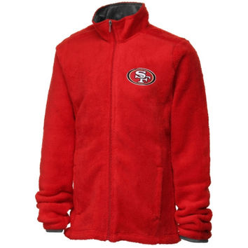 San Francisco 49ers Youth Girls Teddy Fleece Full Zip Jacket - Scarlet - http://www.shareasale.com/m-pr.cfm?merchantID=7124&userID=1042934&productID=523470351 / San Francisco 49ers