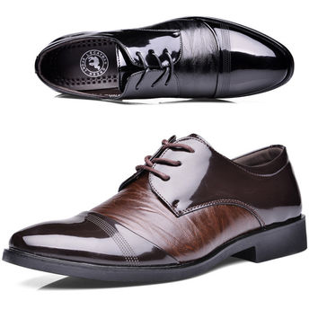 New Style Oxford Shoes For Men Dress Shoes Leather Office men Flats Shoes  Height  Increasing Zapatos Hombre